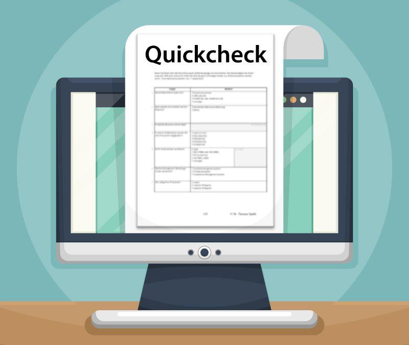 Verfahrensdokumentation Quickcheck